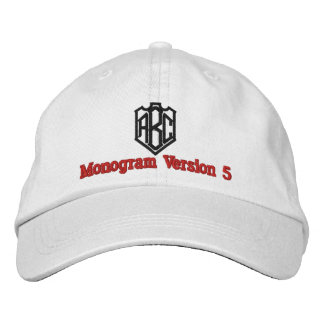 Create Your Own Embroidered Custom Monogram V05 Embroidered Baseball Caps