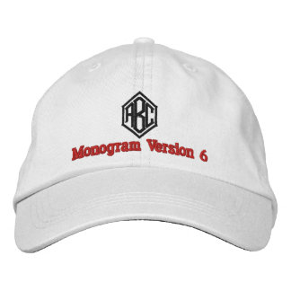 Create Your Own Embroidered Custom Monogram V06 Embroidered Baseball Caps