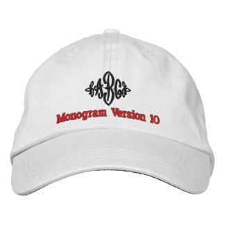 Create Your Own Embroidered Custom Monogram V10 Embroidered Hats