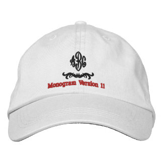 Create Your Own Embroidered Custom Monogram V11 Embroidered Hat