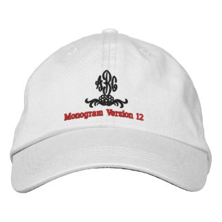 Create Your Own Embroidered Custom Monogram V12 Embroidered Baseball Caps