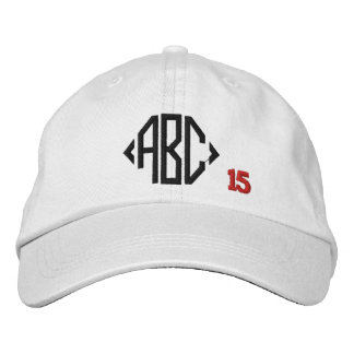 Create Your Own Embroidered Custom Monogram V16 Embroidered Hat