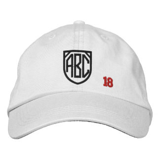 Create Your Own Embroidered Custom Monogram V18 Embroidered Hats