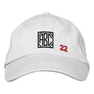 Create Your Own Embroidered Custom Monogram V22 Embroidered Baseball Caps