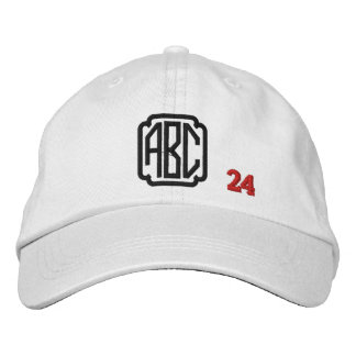 Create Your Own Embroidered Custom Monogram V24 Embroidered Baseball Cap