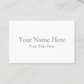 Create Your Own Euro Business Card