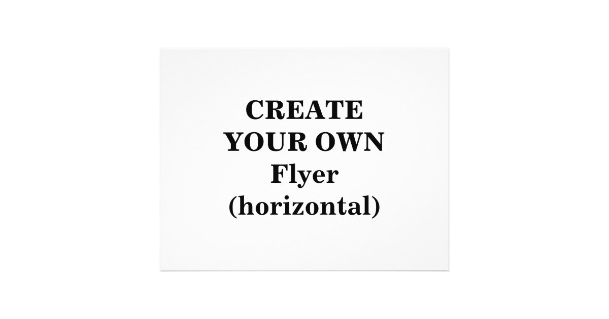 Create Your Own Flyer (horizontal) | Zazzle.co.uk