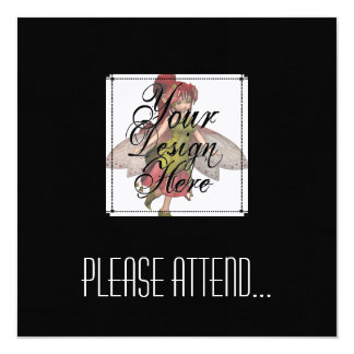 ♪♫♪ Create Your Own Gifts ~ Customise Blank 13 Cm X 13 Cm Square Invitation Card