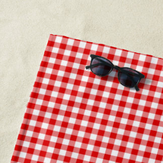 Create Your Own Gingham Beach Towel