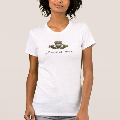 Create your own Gold Irish claddagh T-Shirt