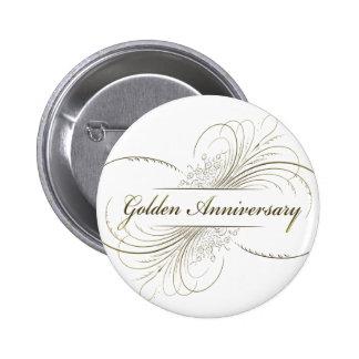 Create Your Own Golden Anniversary Design 6 Cm Round Badge
