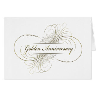Create Your Own Golden Anniversary Design Greeting Card