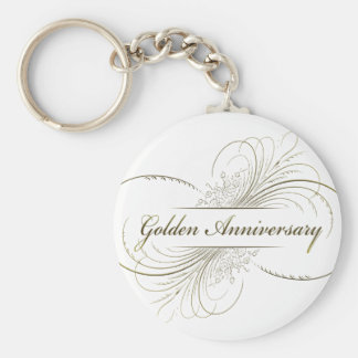 Create Your Own Golden Anniversary Design Key Chain