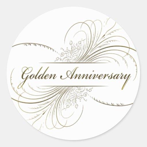 Create Your Own Golden Anniversary Design Sticker