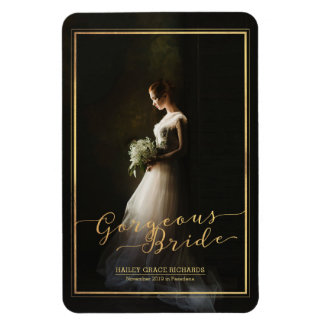 Create Your Own Gorgeous Bride Elegant Typography Rectangular Photo Magnet