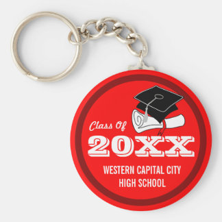 Create Your Own Graduation Keychain Red
