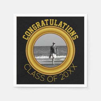 Create Your Own Graduation | Personalized Photo Disposable Napkins