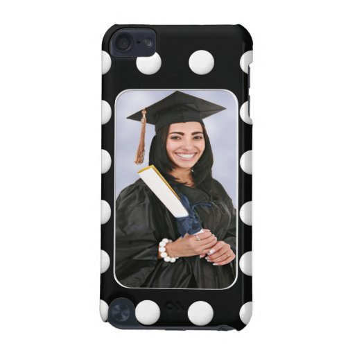 Create Your Own Graduation Photo Polka Dot iPod Touch 5G Covers