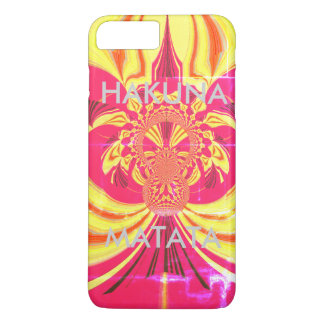 Create Your Own Hakuna Matata red yellow design iPhone 7 Plus Case