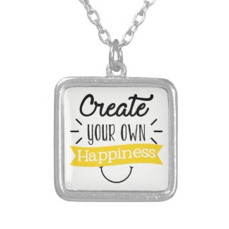 Create your own happiness word art necklace