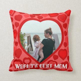 Create your own heart framed photo cushion