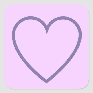 Create Your Own HEART in SQUARE V015 Stickers
