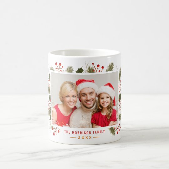 Create Your Own Holiday Christmas Family Photo Coffee