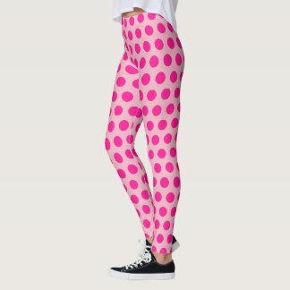 Create Your Own Hot Pink Polka Dot Leggings