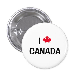 Create Your Own I Love Canada Maple Leaf 3 Cm Round Badge