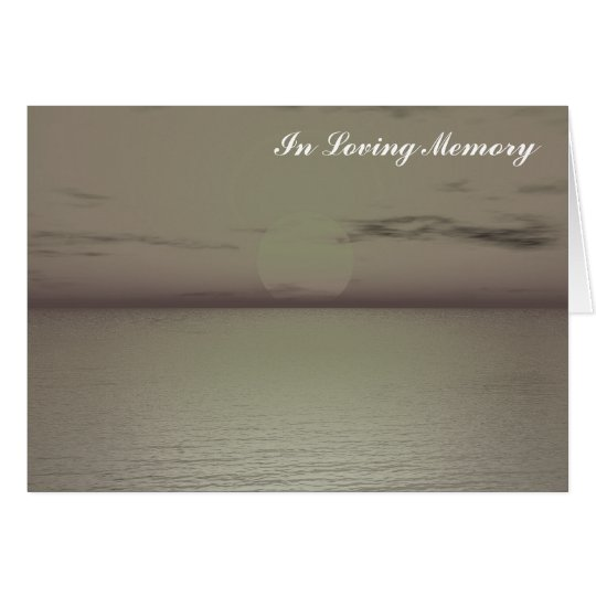 "Create your Own ""In loving Memory"" Card"
