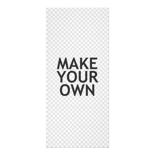 Create Your Own in One Easy Step! Rack Card Design