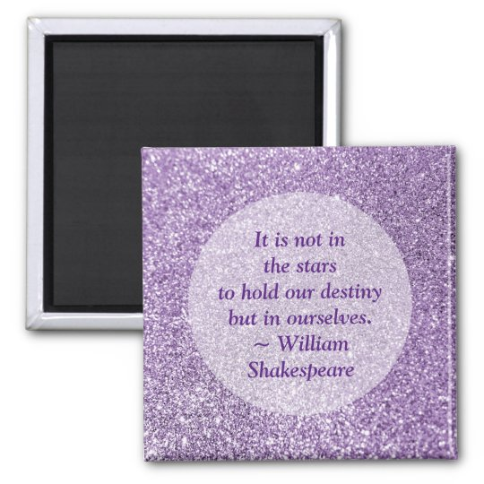 Create Your Own Inspirational Quote Purple Glitter Magnet
