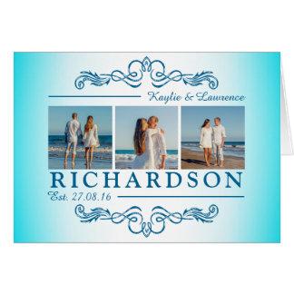 Create Your Own Instagram Beach Wedding Monogram Card