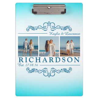 Create Your Own Instagram Beach Wedding Monogram Clipboard