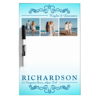 Create Your Own Instagram Beach Wedding Monogram Dry Erase Whiteboards