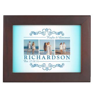 Create Your Own Instagram Beach Wedding Monogram Keepsake Box