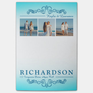 Create Your Own Instagram Beach Wedding Monogram Post-it Notes