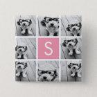 Create Your Own Instagram Collage Custom Monogram 15 Cm Square Badge