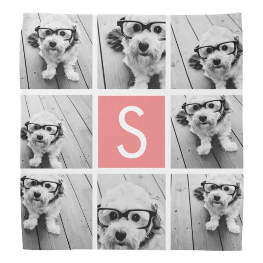 Create Your Own Instagram Collage Custom Monogram Bandana
