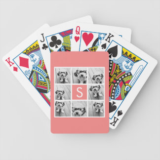 Create Your Own Instagram Collage Custom Monogram Bicycle Playing Cards
