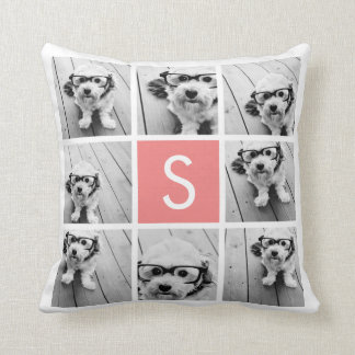 Create Your Own Instagram Collage Custom Monogram Cushions