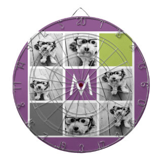 Create Your Own Instagram Collage Custom Monogram Dartboard