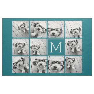 Create Your Own Instagram Collage Custom Monogram Fabric