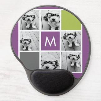 Create Your Own Instagram Collage Custom Monogram Gel Mouse Mat