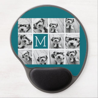 Create Your Own Instagram Collage Custom Monogram Gel Mouse Mat