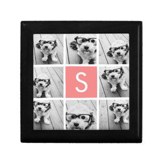 Create Your Own Instagram Collage Custom Monogram Gift Box