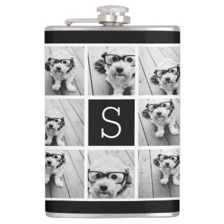 Create Your Own Instagram Collage Custom Monogram Hip Flask