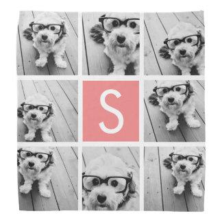 Create Your Own Instagram Collage Custom Monogram Kerchiefs