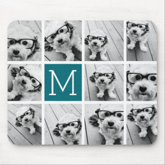 Create Your Own Instagram Collage Custom Monogram Mouse Mat