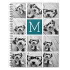 Create Your Own Instagram Collage Custom Monogram Notebook